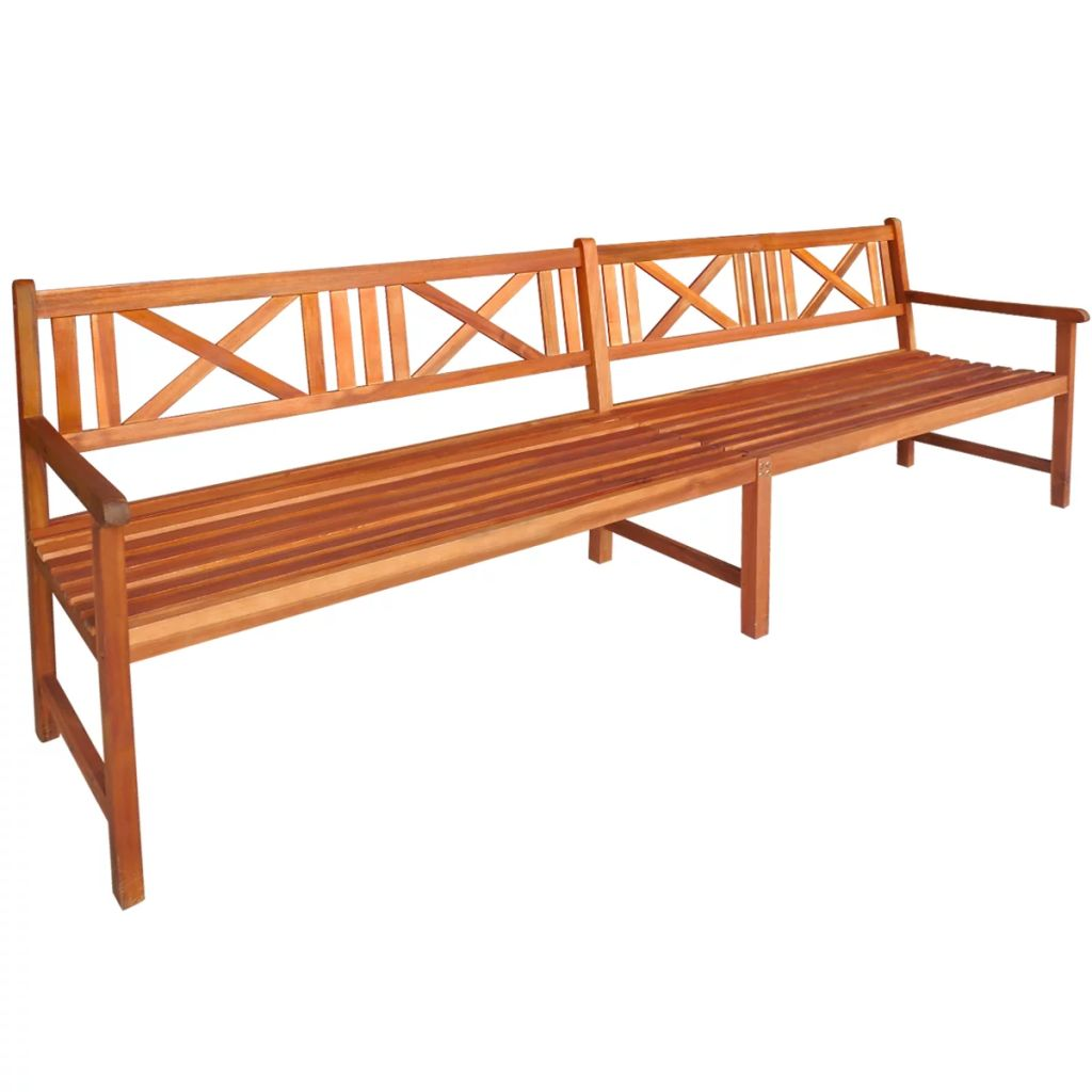 Garden Bench 240 cm Solid Acacia Wood 1