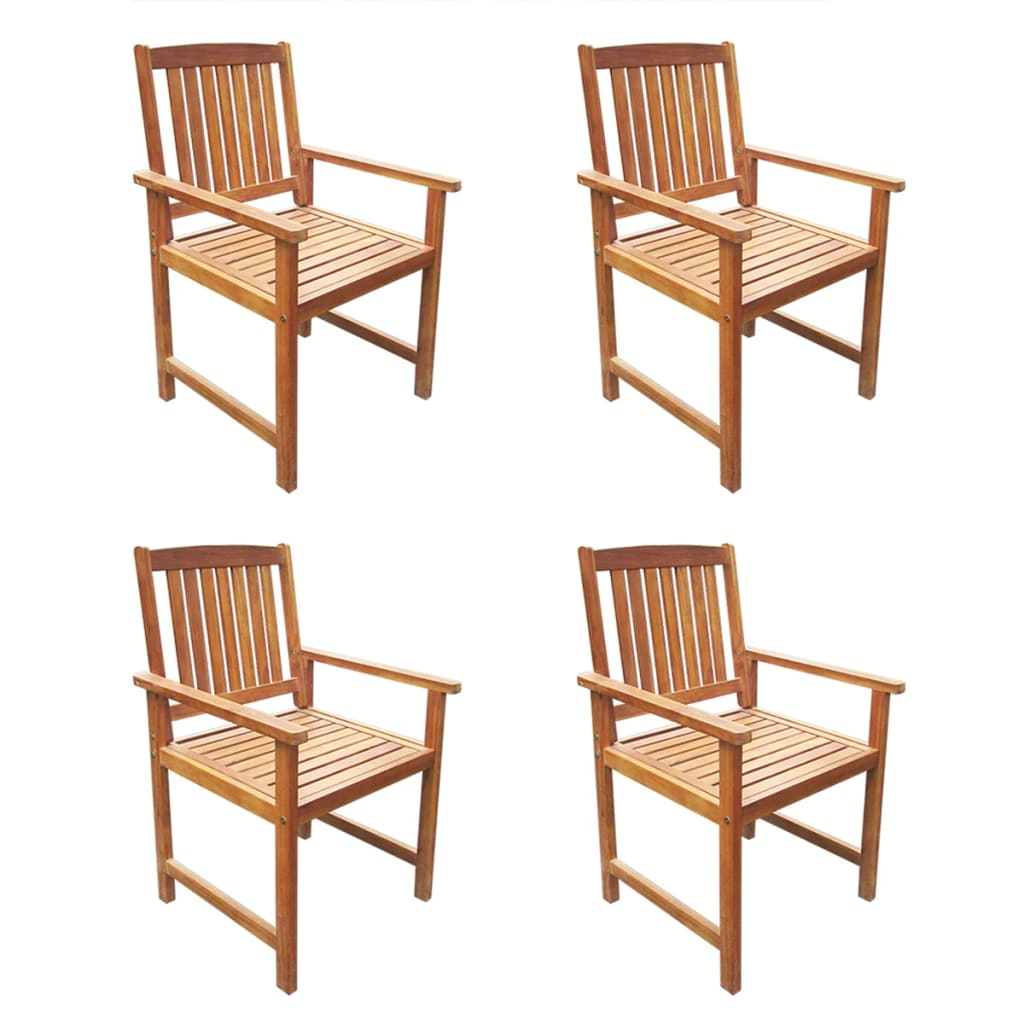 5 Piece Outdoor Dining Set Solid Acacia Wood 4