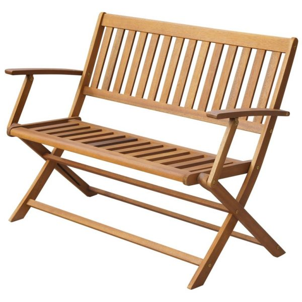 Folding Garden Bench 120 cm Solid Acacia Wood 1