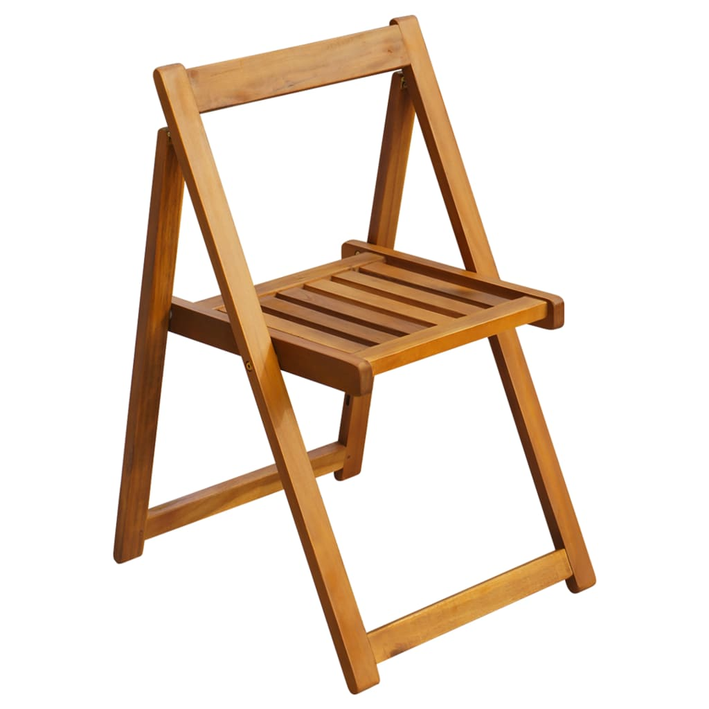 Folding Garden Chairs 2 pcs Solid Acacia Wood 2
