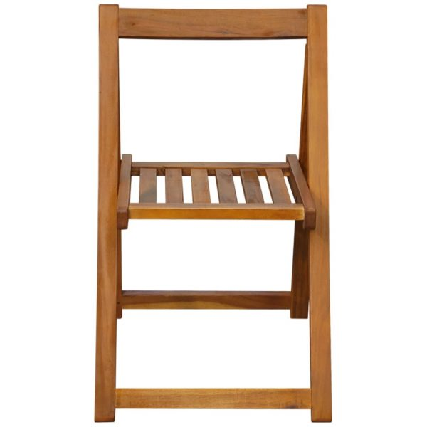 Folding Garden Chairs 2 pcs Solid Acacia Wood 3