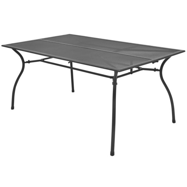 Garden Table 150x90x72 cm Steel Mesh 1