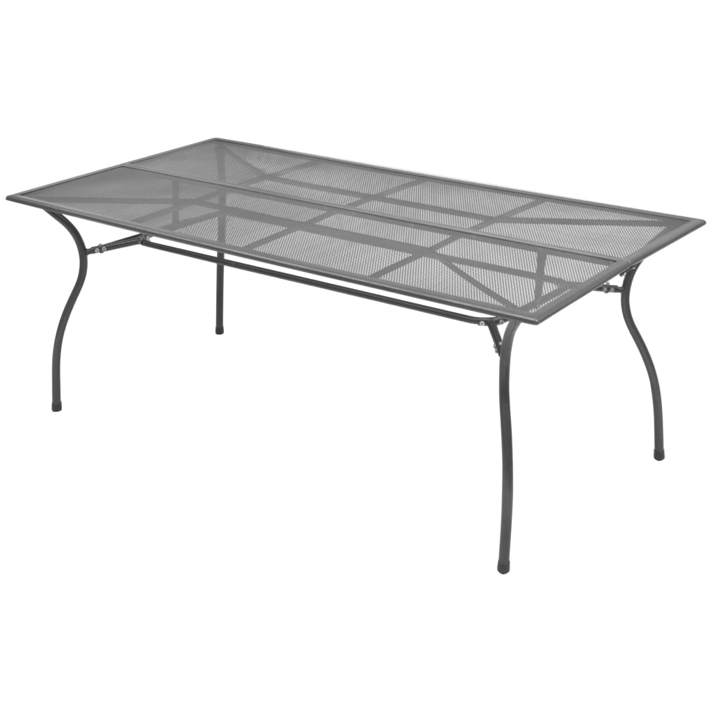 Garden Table 180x90x72 cm Steel Mesh