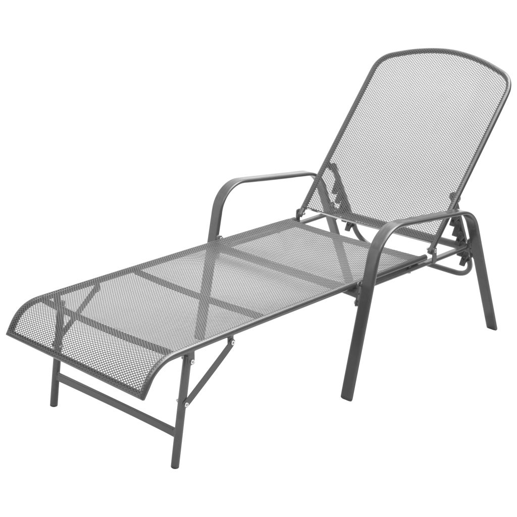 Sun Lounger Steel Anthracite 1