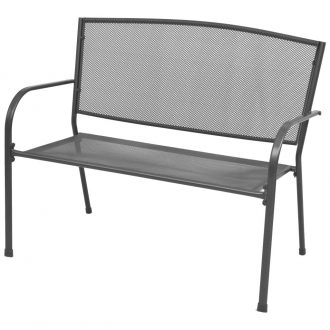 Garden Bench 108 cm Steel and Mesh Anthracite 1