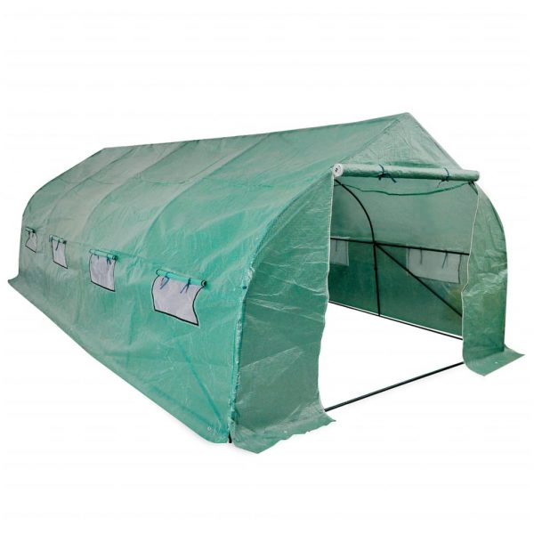 Portable Polytunnel Greenhouse Steel Frame Walk-in 18 m² 1