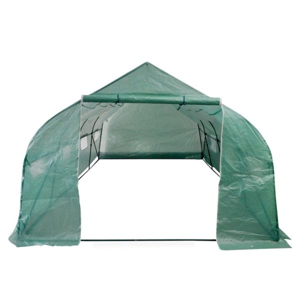 Portable Polytunnel Greenhouse Steel Frame Walk-in 18 m² 4