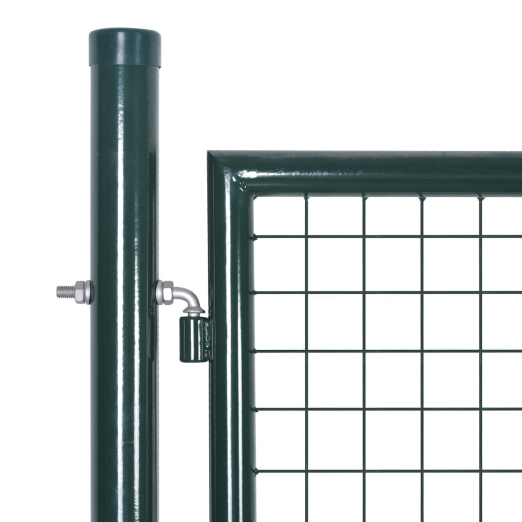 Fence Gate Steel 100×250 cm Green 3