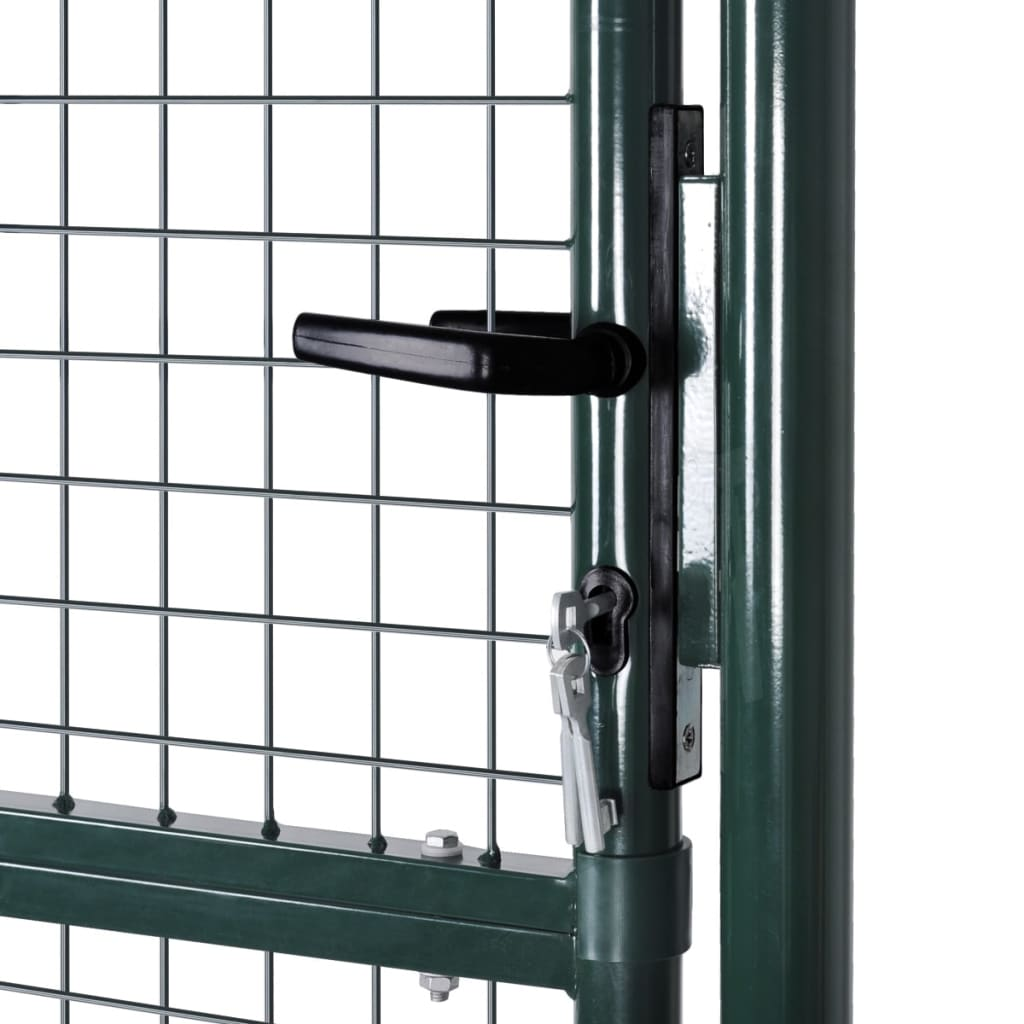 Fence Gate Steel 100×250 cm Green 4