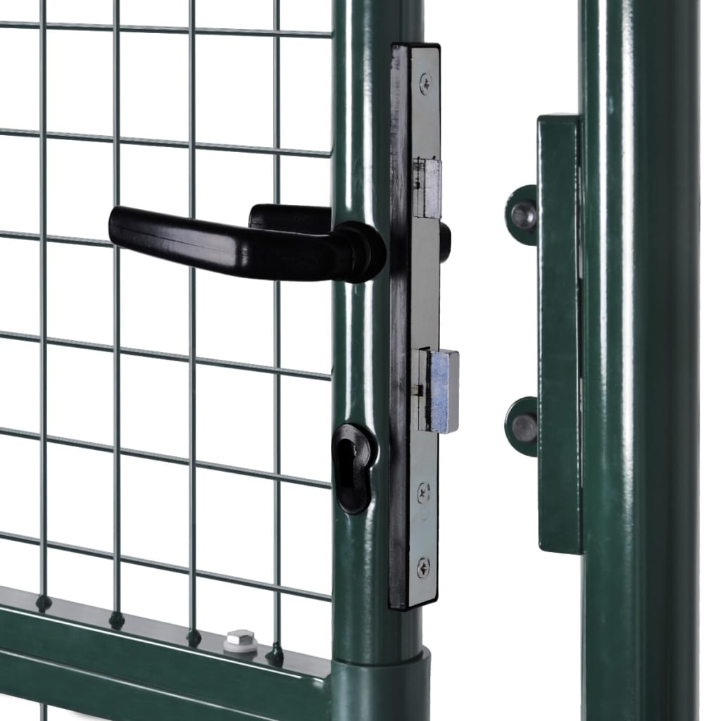 Fence Gate Steel 100×250 cm Green 5