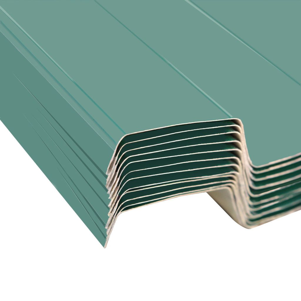 Roof Panels 12 pcs Galvanised Steel Green 4
