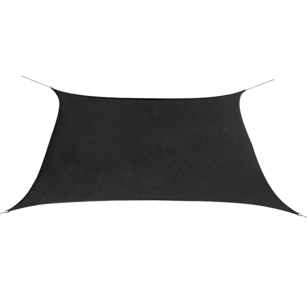 Sunshade Sail Oxford Fabric Square 2×2 m Anthracite 1