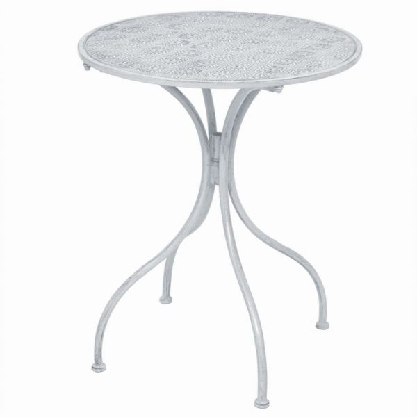 3 Piece Bistro Set Steel White 3