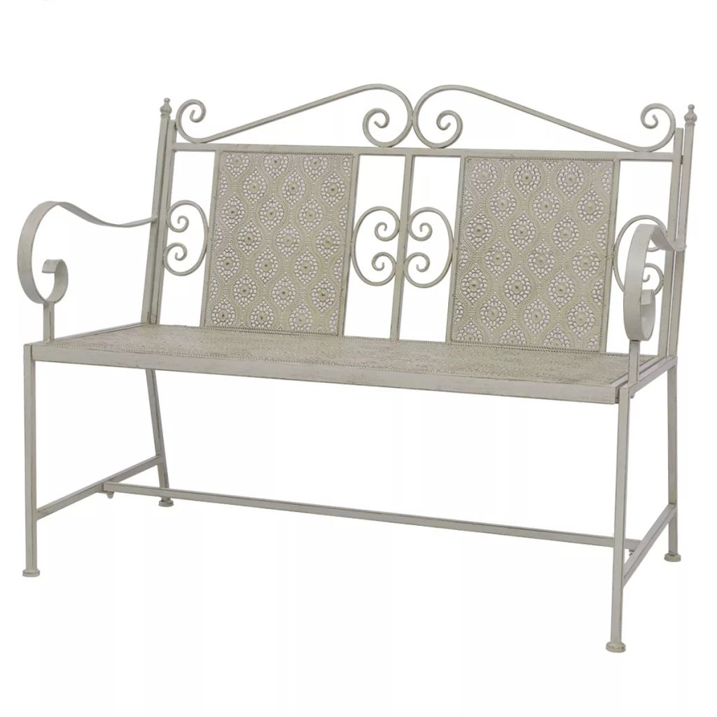 Garden Bench 115 cm Steel Grey