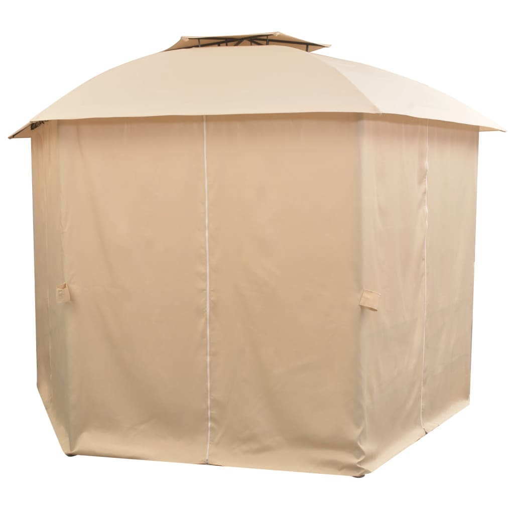 Garden Marquee Pavilion Tent with Curtains Hexagonal 360×265 cm 4
