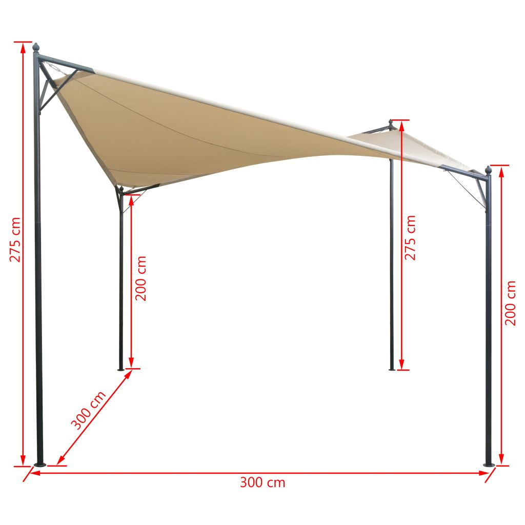 Shade Sail Gazebo 3×3 m 6