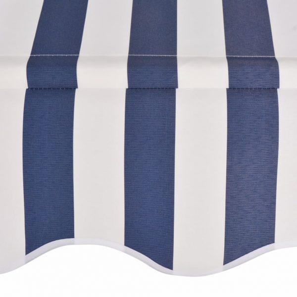 Manual Retractable Awning 150 cm Blue and White Stripes 4