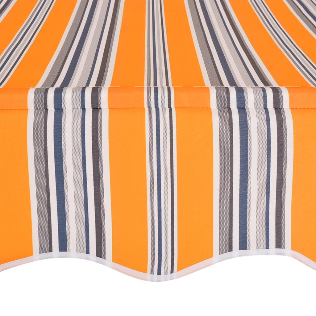 Manual Retractable Awning 200 cm Yellow and Blue Stripes 4