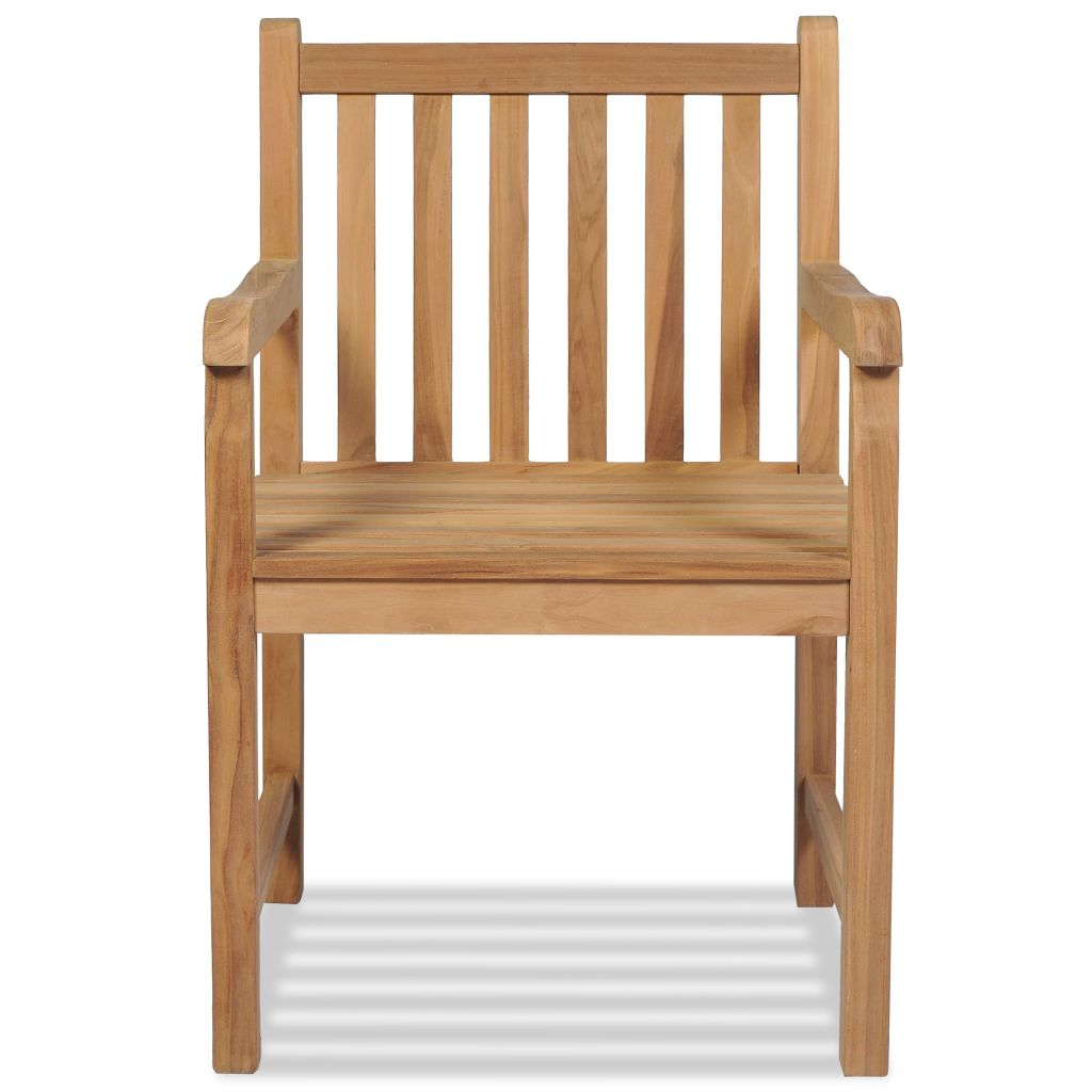 Outdoor Chairs 2 pcs Solid Teak Wood 3