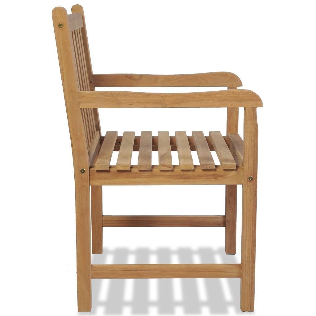 Outdoor Chairs 2 pcs Solid Teak Wood 4