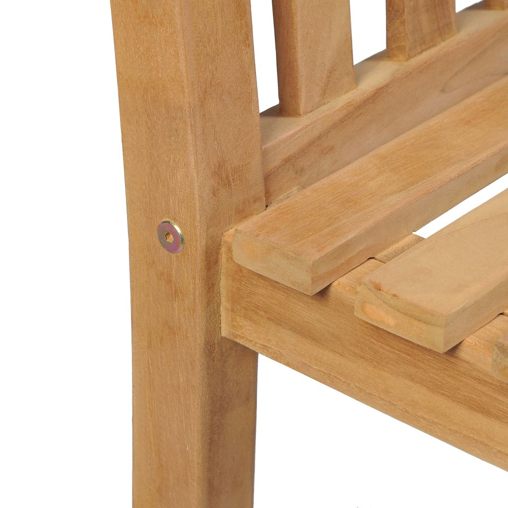 Outdoor Chairs 2 pcs Solid Teak Wood 5