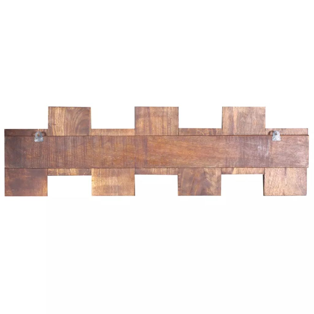 Coat Rack with 7 Hooks Solid Reclaimed Wood 7