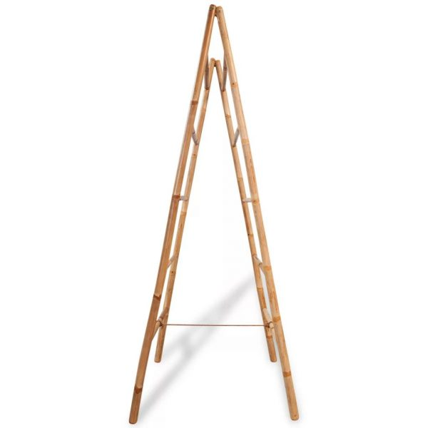 Double Towel Ladder with 5 Rungs Bamboo 50×160 cm 3
