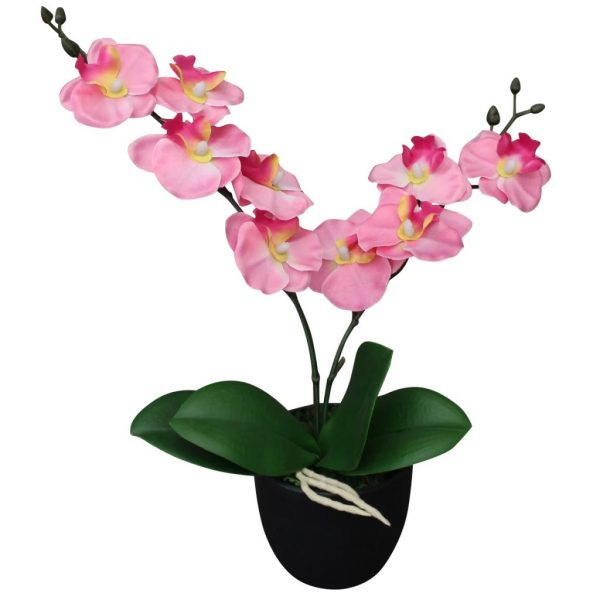 Artificial Orchid Plant with Pot 30 cm Pink 1