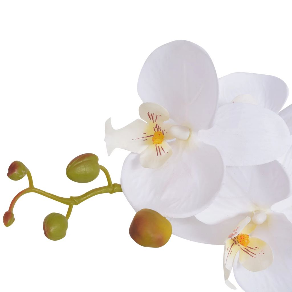 Artificial Orchid Plant with Pot 75 cm White 2