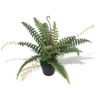Artificial Fern Plant with Pot 50 cm Green 1