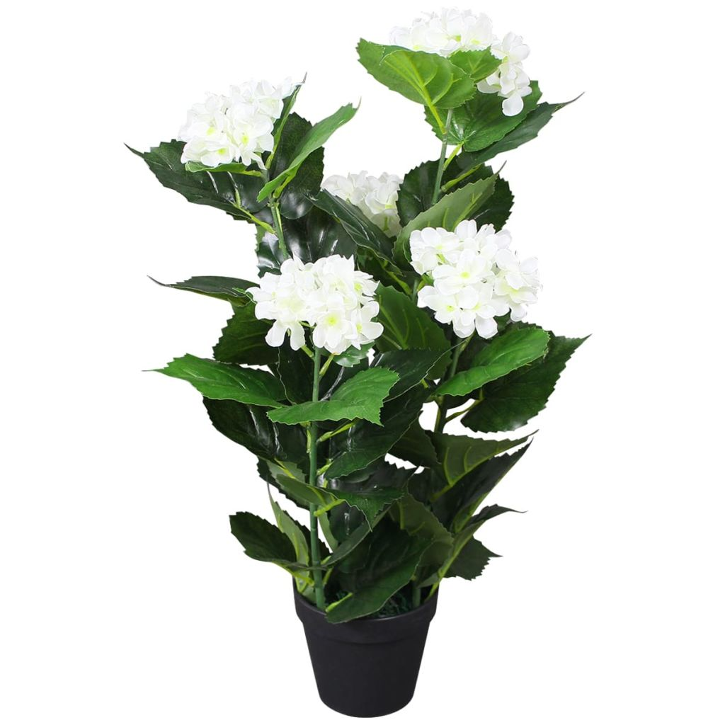 Artificial Hydrangea Plant with Pot 60 cm White