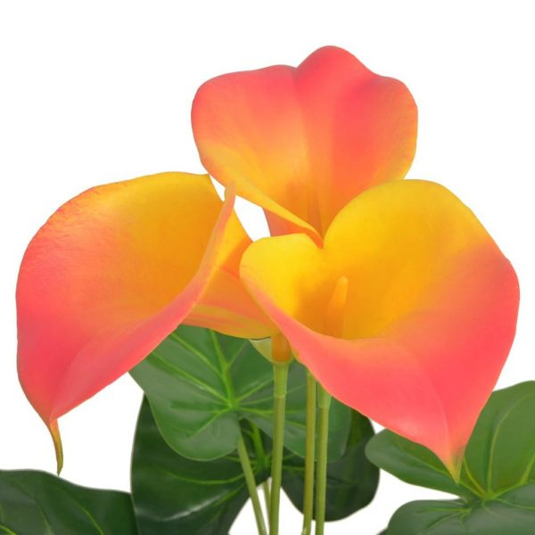 Artificial Calla Lily Plant with Pot 45 cm Red and Yellow 2