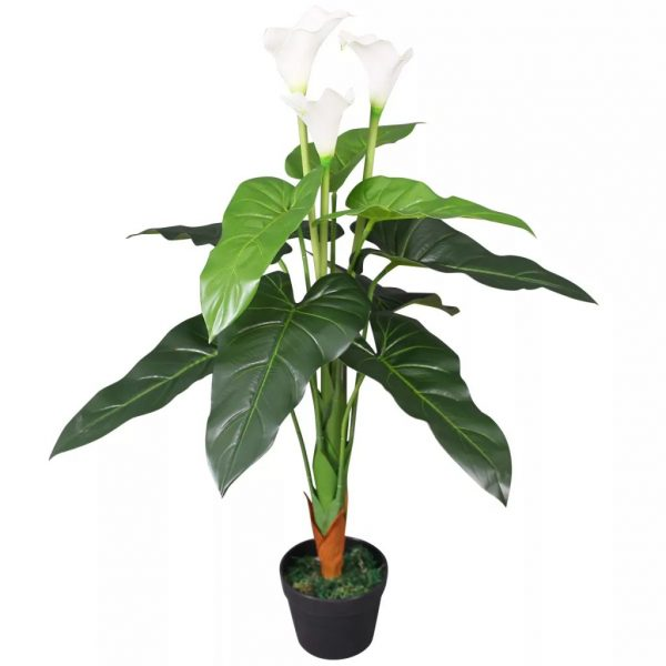 Artificial Calla Lily Plant with Pot 85 cm White 1