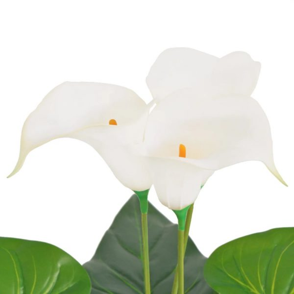 Artificial Calla Lily Plant with Pot 85 cm White 2