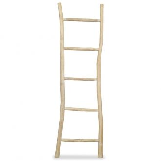 Towel Ladder with 5 Rungs Teak 45×150 cm Natural 1