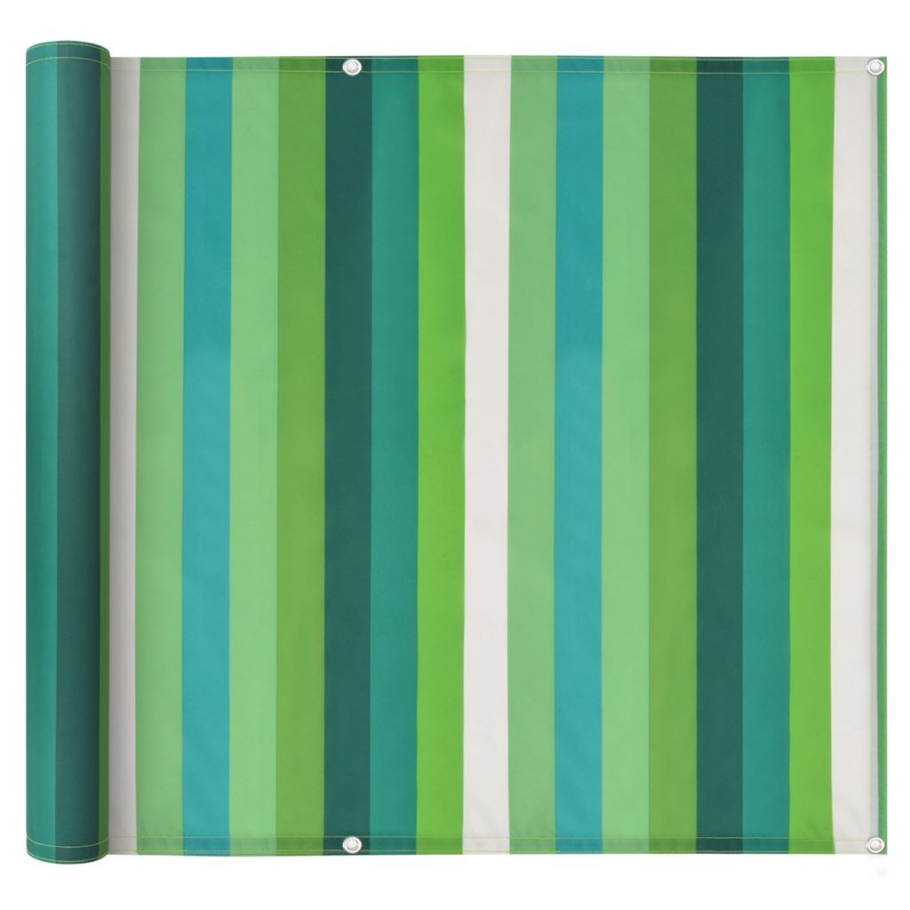 Balcony Screen Oxford Fabric 75×600 cm Stripe Green 1