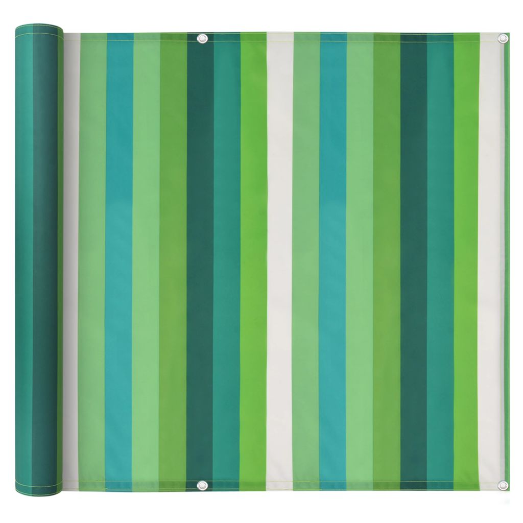Balcony Screen Oxford Fabric 90×600 cm Stripe Green 1