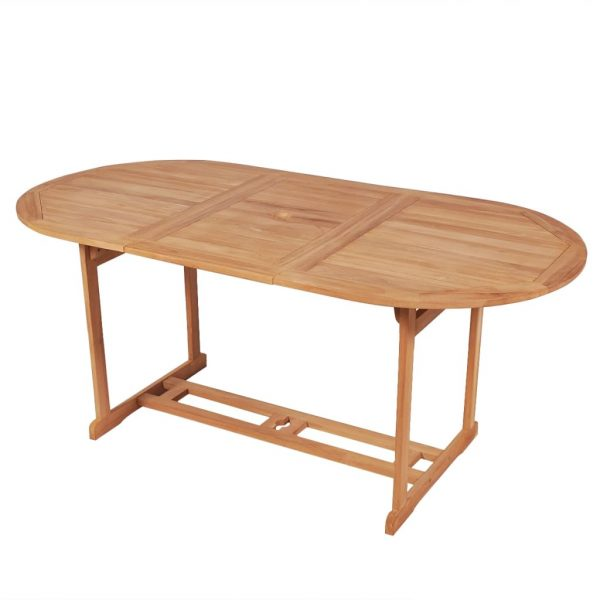 Garden Table 180x90x75 cm Solid Teak Wood 1