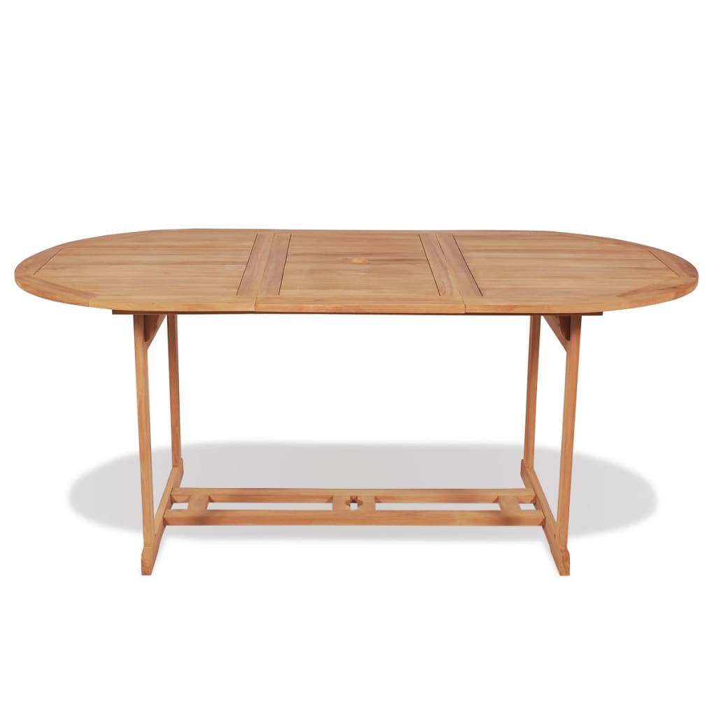 Garden Table 180x90x75 cm Solid Teak Wood 2