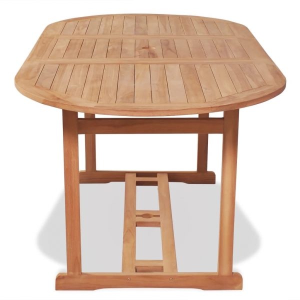 Garden Table 180x90x75 cm Solid Teak Wood 3