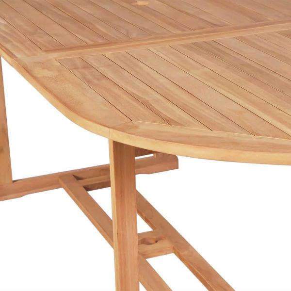 Garden Table 180x90x75 cm Solid Teak Wood 4