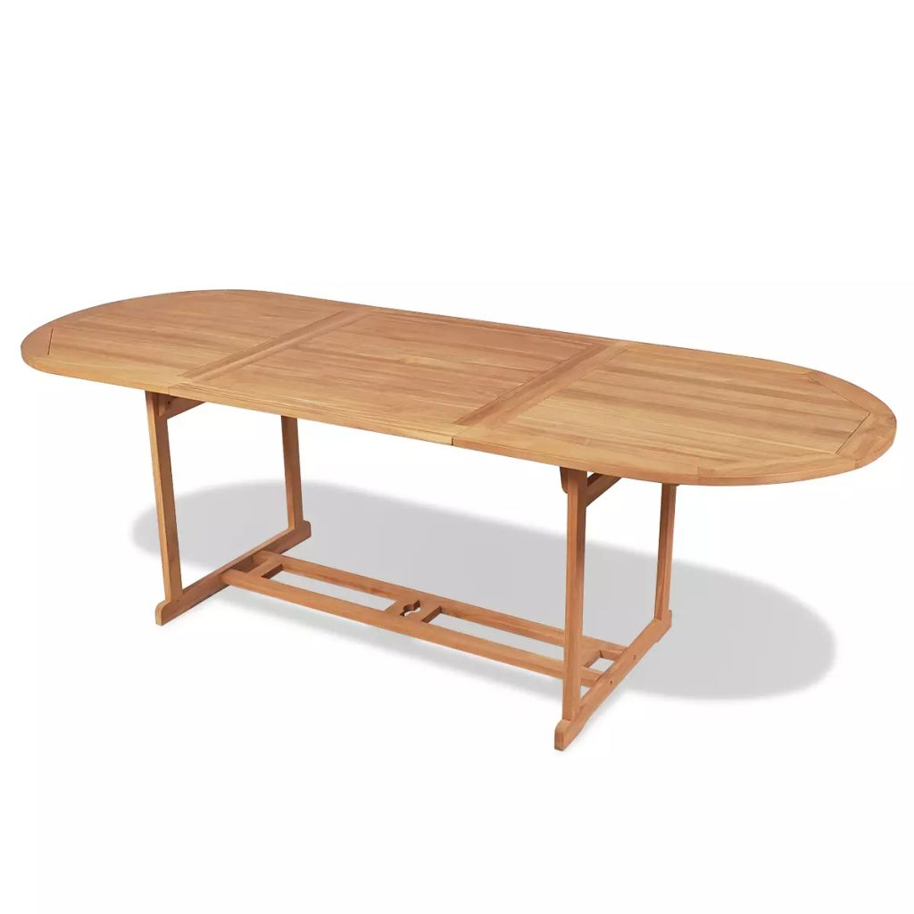 Garden Table 240x90x75 cm Solid Teak Wood