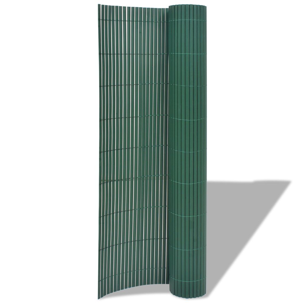 Double-Sided Garden Fence PVC 90×300 cm Green 2