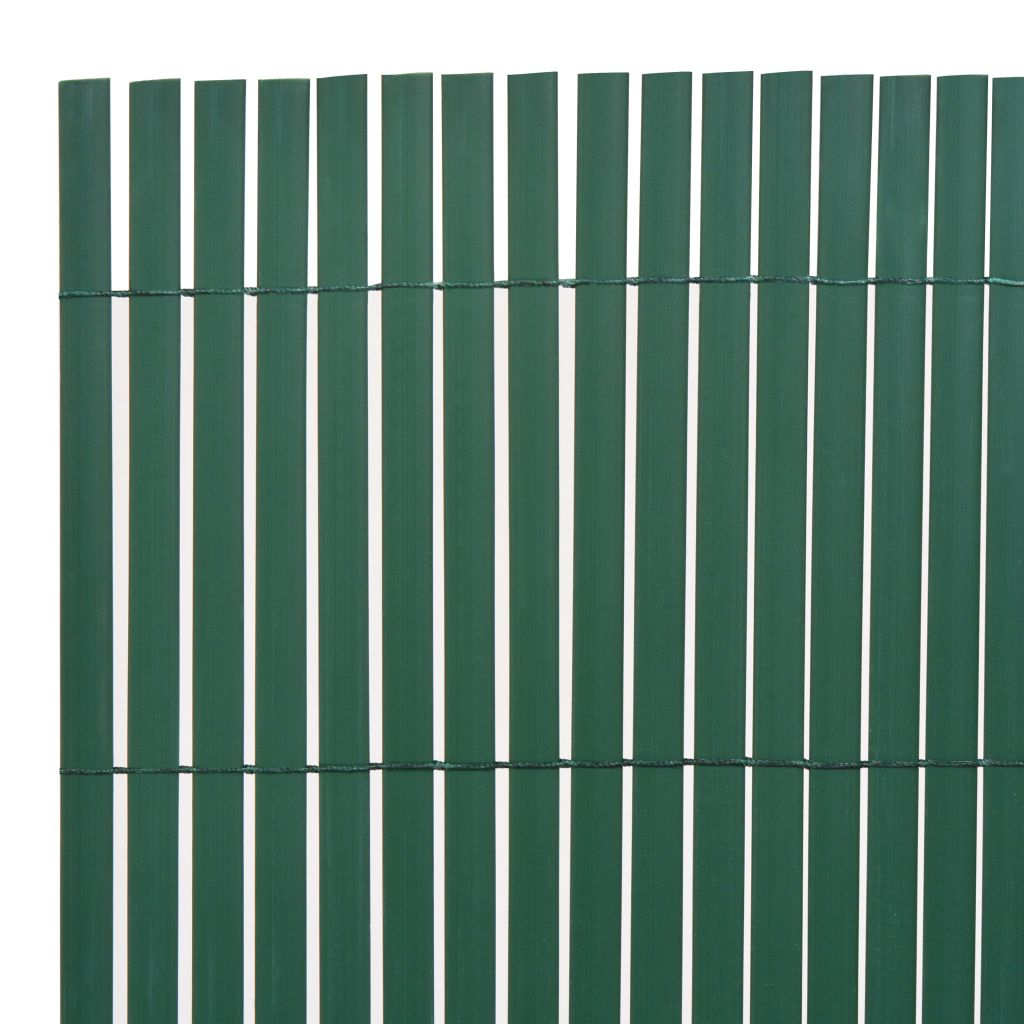 Double-Sided Garden Fence PVC 90×300 cm Green 3