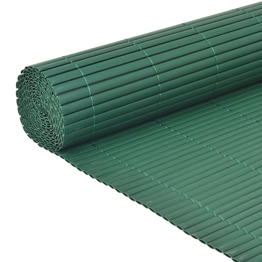Double-Sided Garden Fence PVC 90×300 cm Green 4