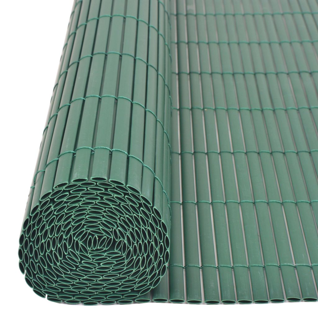 Double-Sided Garden Fence PVC 90×300 cm Green 5