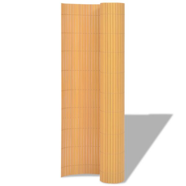 Double-Sided Garden Fence PVC 90×300 cm Yellow 2