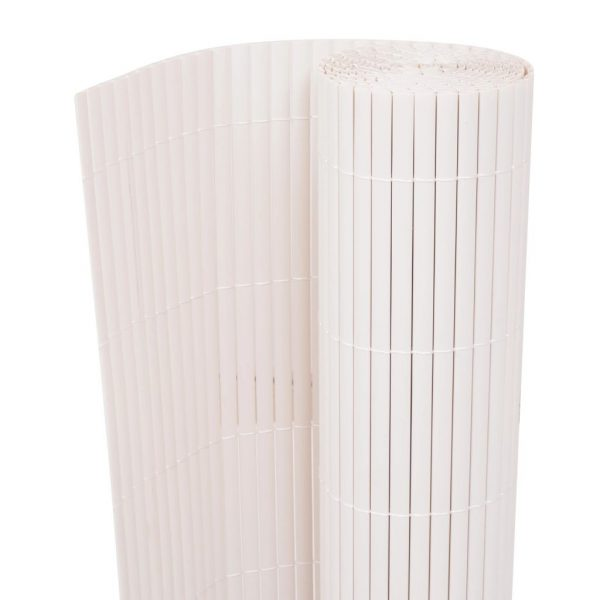 Double-Sided Garden Fence 150×500 cm White 1