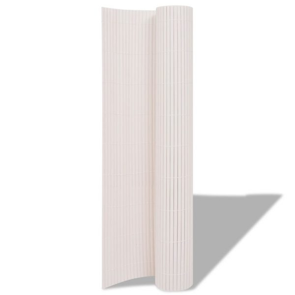 Double-Sided Garden Fence 150×500 cm White 2