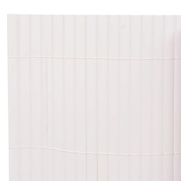 Double-Sided Garden Fence 150×500 cm White 3